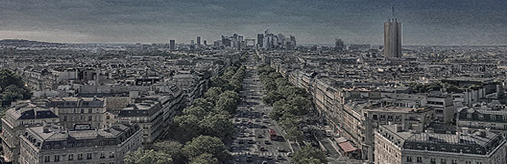 Paris from the Arc de Triomphe (S. Garagnani)